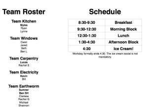 Workday Team Roster