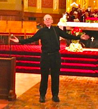 Rev. Jerry Singer at the 50th anniversary of his ordination, June 2, 2013, Nativity Church, Detroit